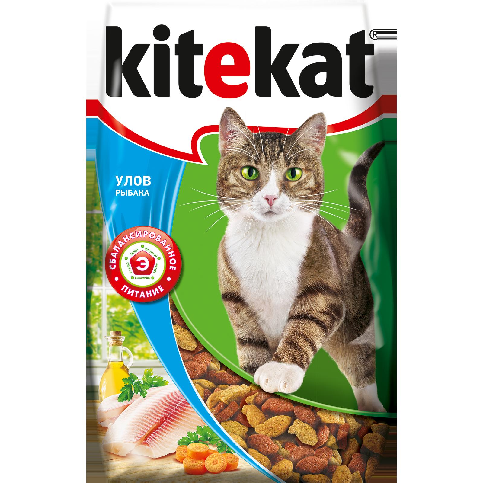 Сухой корм для кошек Kitekat, улов рыбака, 0,8кг