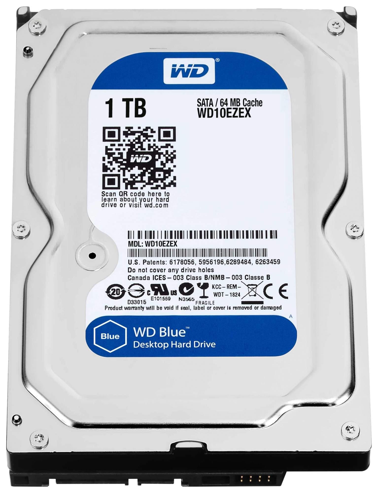 Внутренний жесткий диск Western Digital Blue 1TB (WD10EZEX)