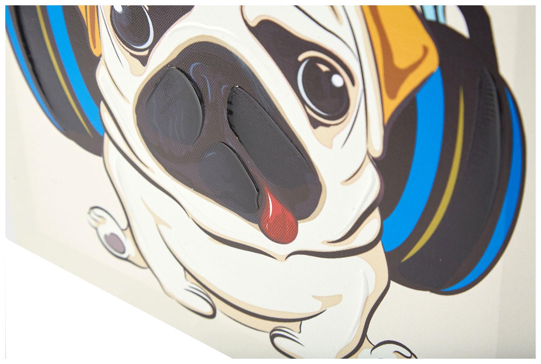 Репродукция 30x30 см Hoff Собака в наушниках