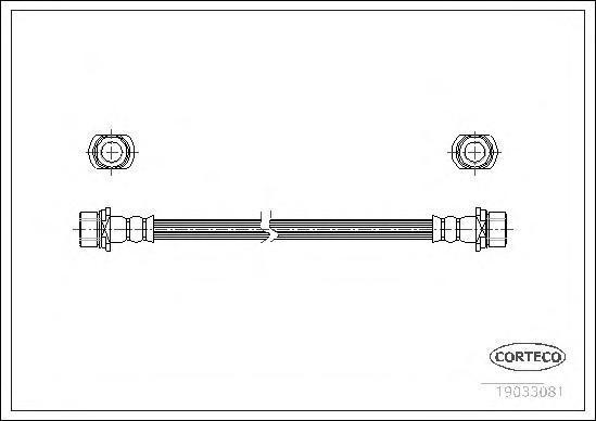 Шланг тормозной Corteco 19033081