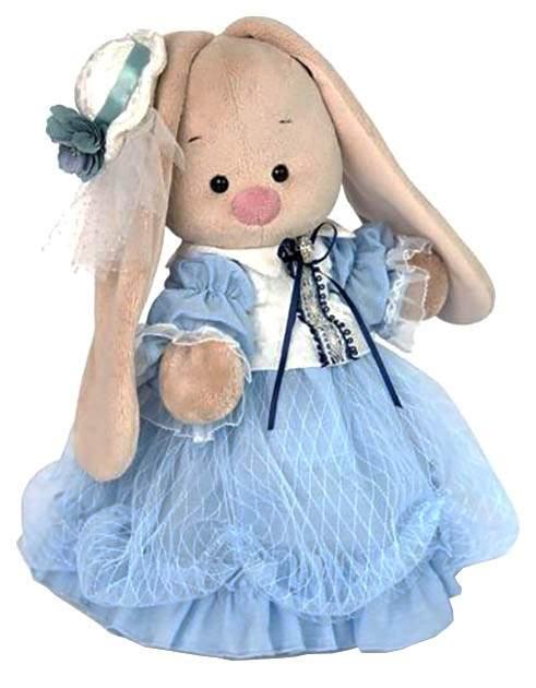 Мягкая игрушка BUDI BASA Зайка Ми Барышня в нежно-васильковом, 32 см