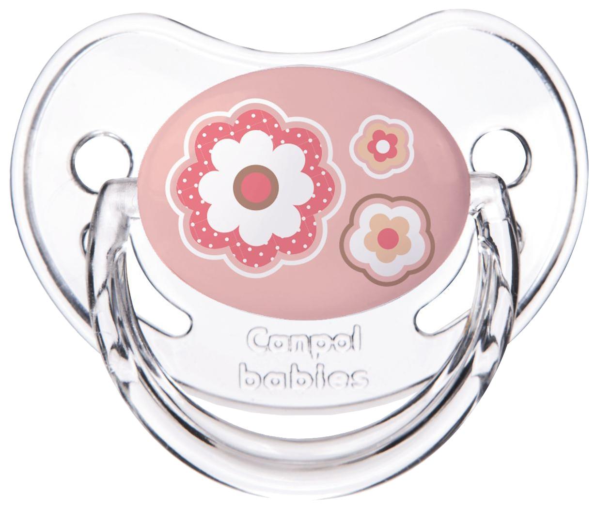 Пустышка Canpol Newborn baby симметричная, силикон, 6-18 мес., арт. 22/581 цвет розовый