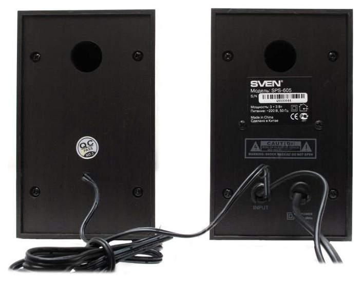 Колонки для компьютера Sven SPS-605 6 Вт Black