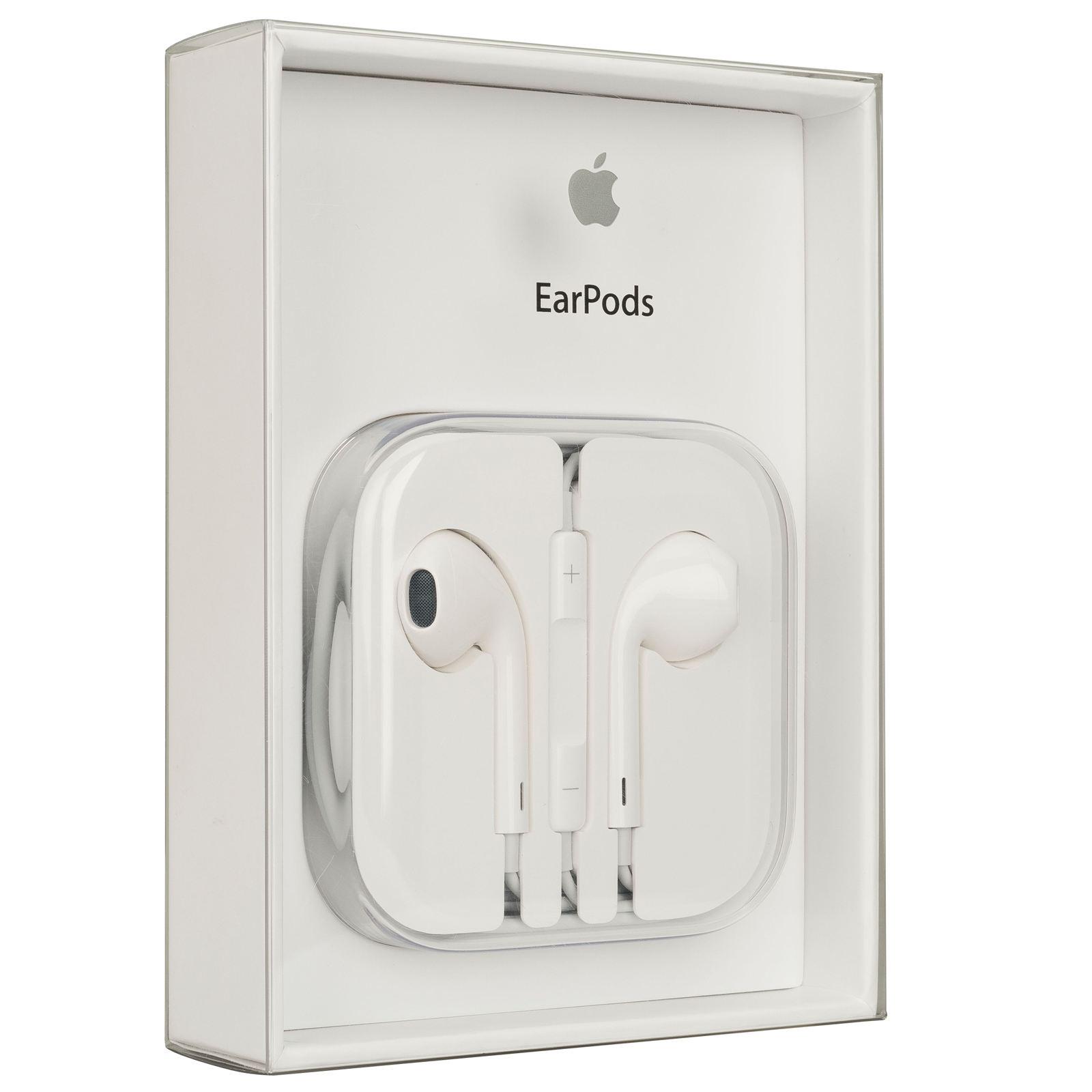 Наушники Apple EarPods 3.5 mm White (MNHF2ZM/A)