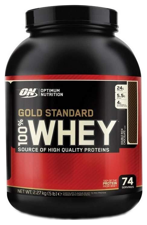 Протеин Optimum Nutrition 100% Whey Gold Standard 2270 г двойной шоколад