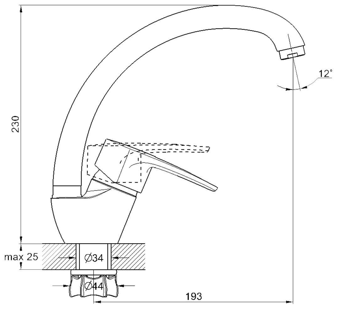 Смеситель для кухонной мойки G.lauf 8G4-A181KB