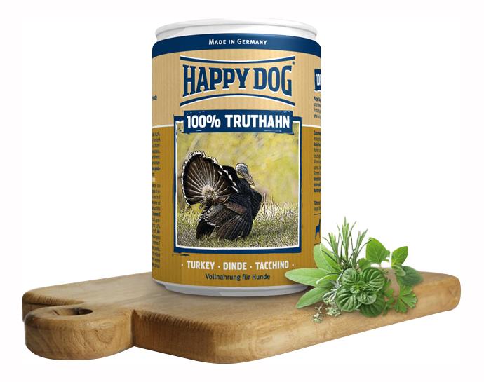 Фотография Консервы для собак Happy Dog 100% Truthahn, индейка, 400г №1