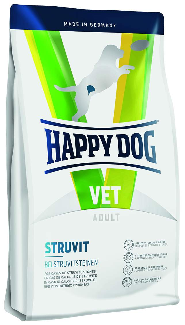 Фотография Сухой корм для собак Happy Dog Vet Adult Struvit, при МКБ со струвитами, птица, 4кг №1