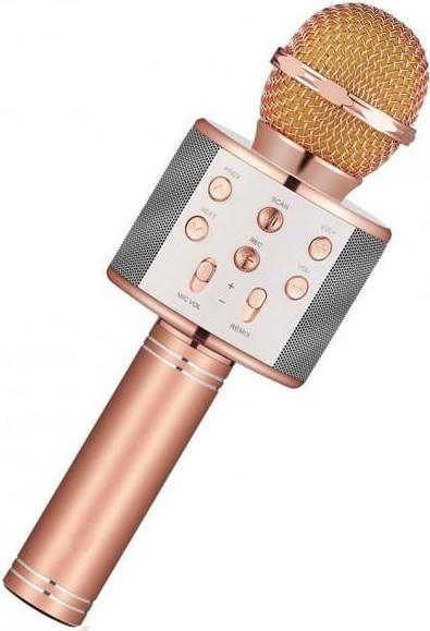 Беспроводной караоке-микрофон WS-1688 Rose Gold