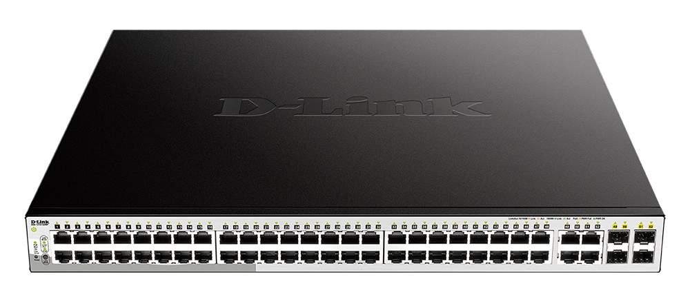 Коммутатор D-Link DGS-1210-52MP/F1A Black