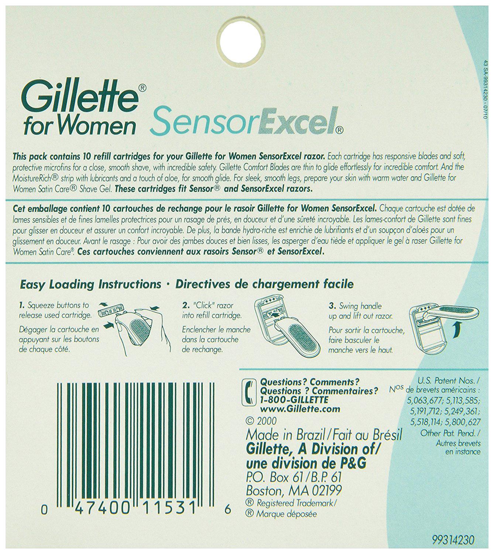 Сменное лезвие для станка Gillette Sensor Excel for Women 5 шт
