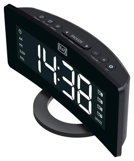 Радио-часы Max CR-2915 Черный Белый
