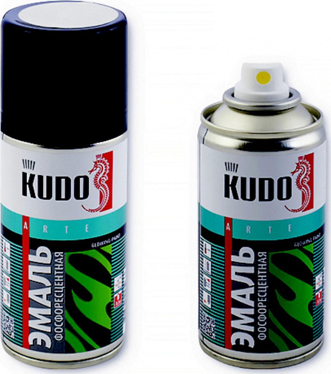 Эмаль KUDO фосфоресцентная с зелёно-желтым свечением