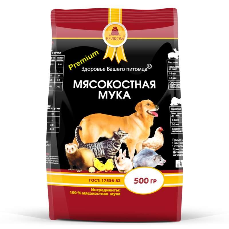 Фотография Минеральная смесь для собак Белком Мясокостная мука, 500 г №1