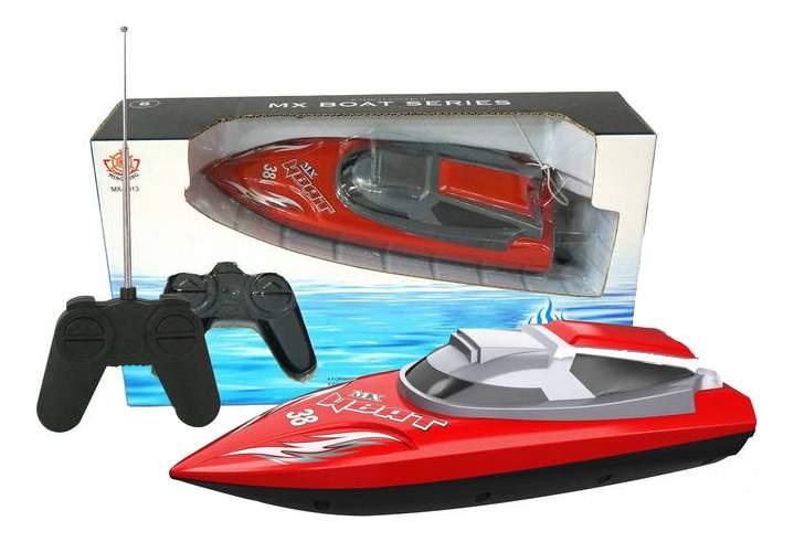 Радиоуправляемый катер Han Xing Toys Катер красный MX-0013-3
