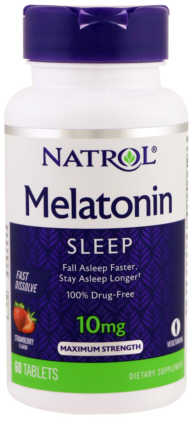 Добавка для сна Natrol Melatonin 60 табл. натуральный