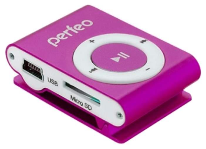 МР3-плеер с клипсой Perfeo Music Clip Titanium VI-M001 Розовый