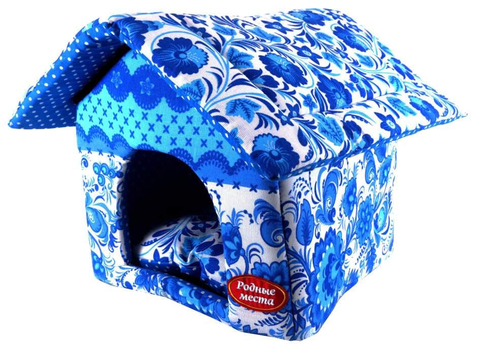 Домик для собак и кошек Родные Места Гжель размер 32 x 33 x 36 см