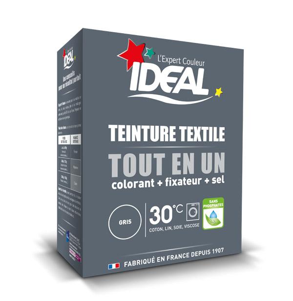 Краска для одежды и тканей Ideal MAXI Все в Одном серая, 350 г