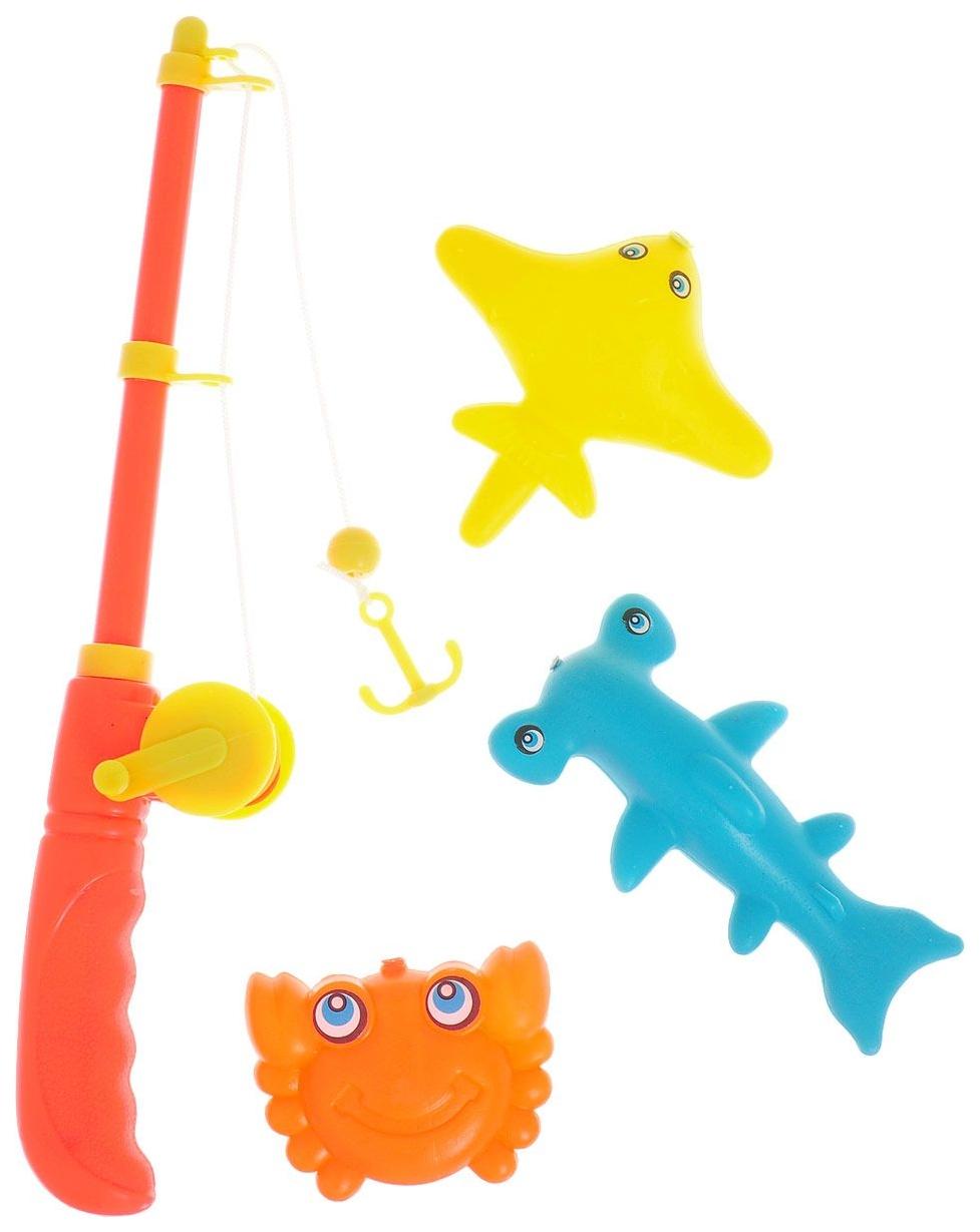 Игра в рыбалку JUNFA с 3 морскими животными 8x2x23см