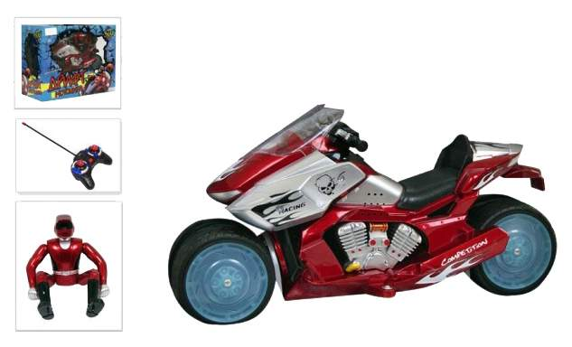 Мотоцикл р/у дрифт на аккум красный Zhorya М42390
