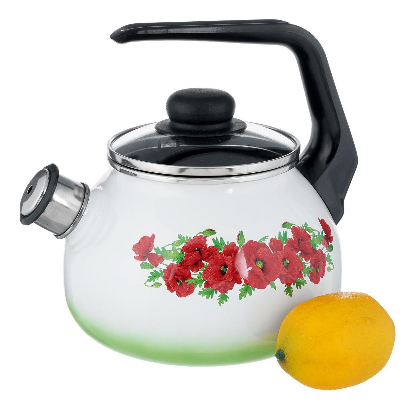 Чайник для плиты СТАЛЬЭМАЛЬ 4с210я 2 л