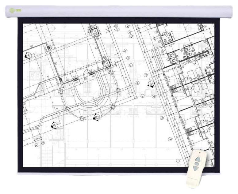 Экран для видеопроектора Cactus Motoscreen CS-PSM-180X180 Белый
