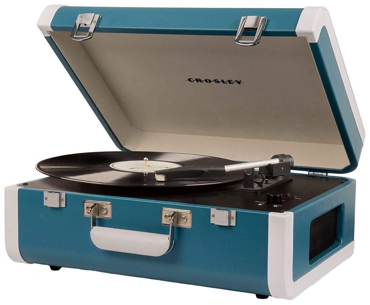 Проигрыватель виниловых пластинок Crosley Portfolio Portable CR6252A-TU Turquoise
