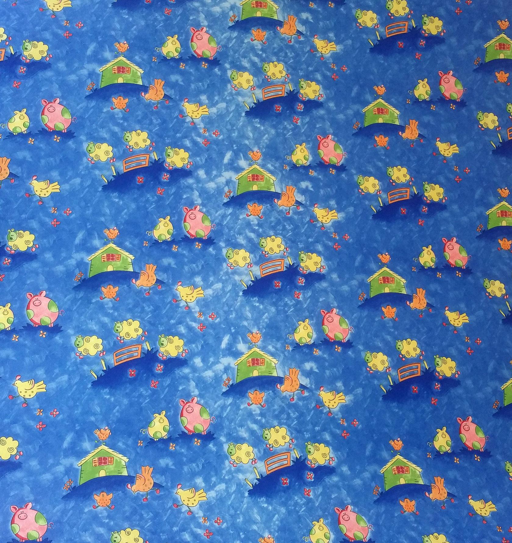 Коврик из EVA BabyPol Домик в Деревне размер 14х145м толщина 9мм