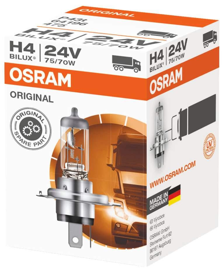 Лампа галогенная автомобильная OSRAM Н4 24 V 75 70W (64196)