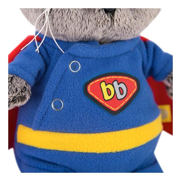 Мягкая игрушка BUDI BASA Кот Басик в костюме супермена 20 см Budi basa
