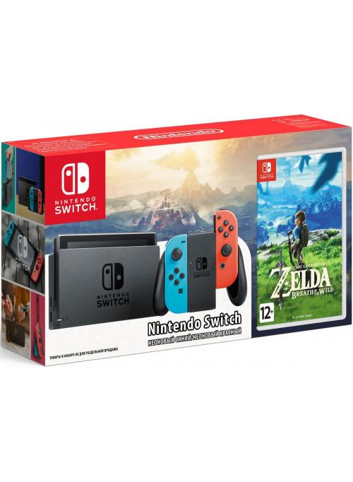 Портативная игровая консоль Nintendo Switch Red Blue + The Legend of Zelda