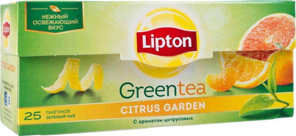 Чай зеленый Lipton сitrus garden 25 пакетиков