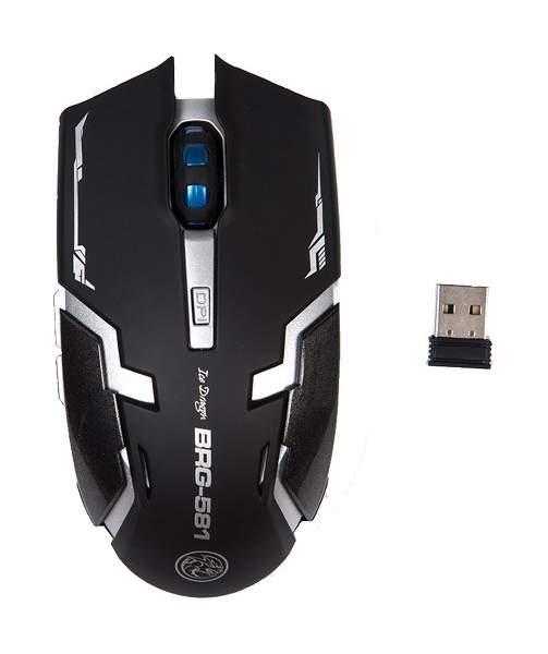 Беспроводная игровая мышь MARVO BRG-581 Grey/Black
