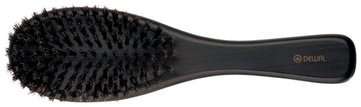 Расческа Dewal Деревянная натуральная щетина на подушке 9 рядов BR-WC618