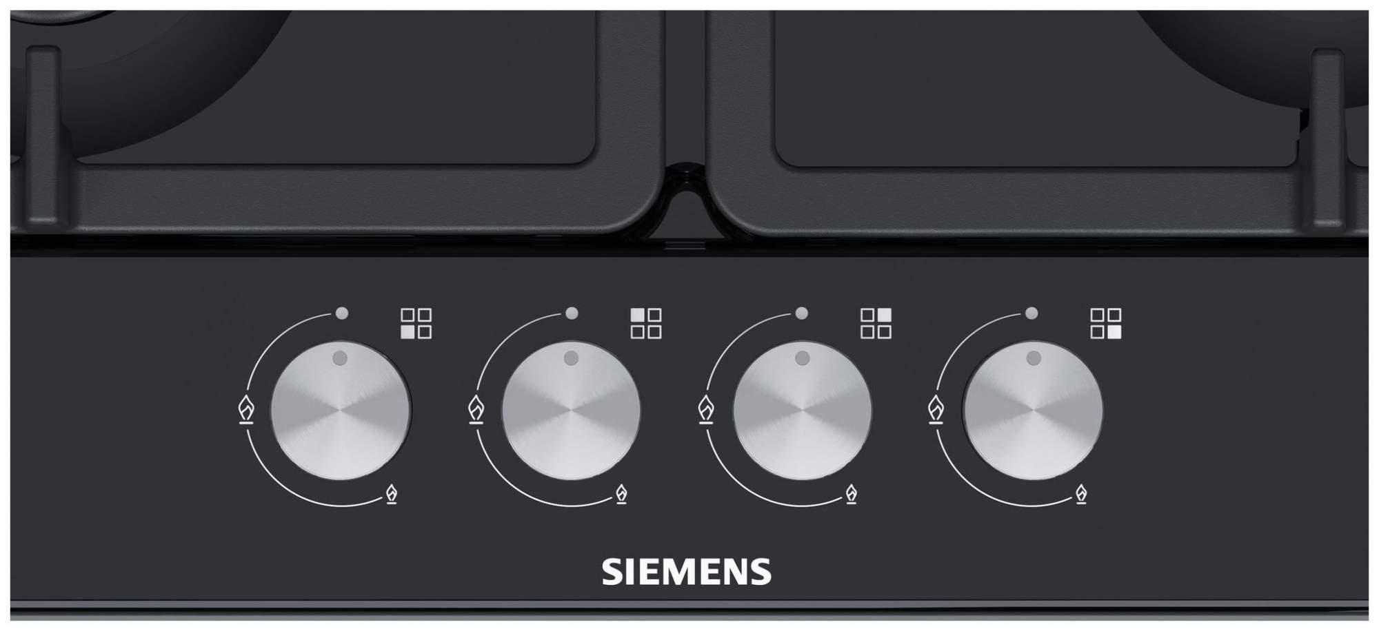 Встраиваемая варочная панель газовая Siemens EG6B6PO90R Black