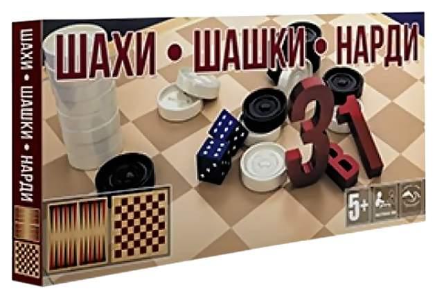 Настольная игра 3 в 1 Черноморье Шашки, шахматы, нарды