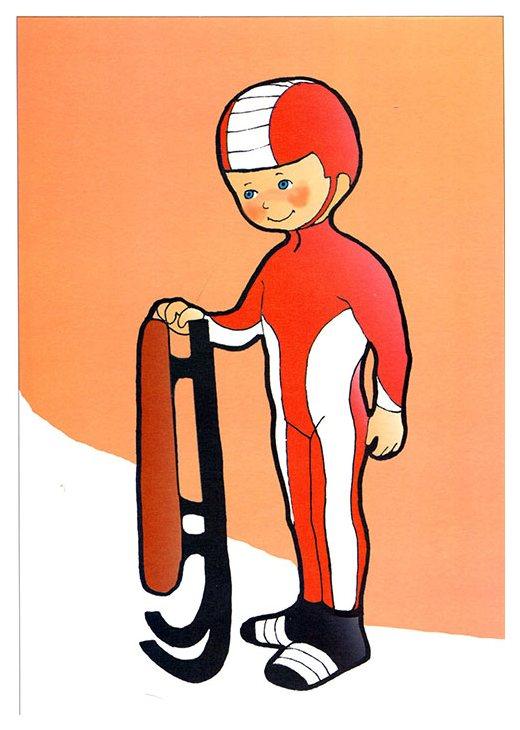 Картинки санный вид спорта для детей