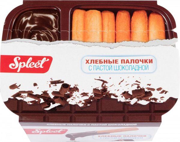 Хлебные палочки Spleet с пастой шоколадной 80 г