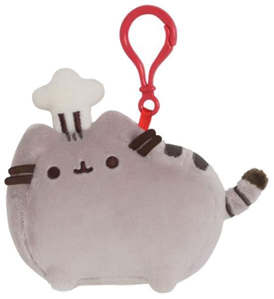 Мягкая игрушка Gund Pusheen Backpack Clip Chef Hat 9 см