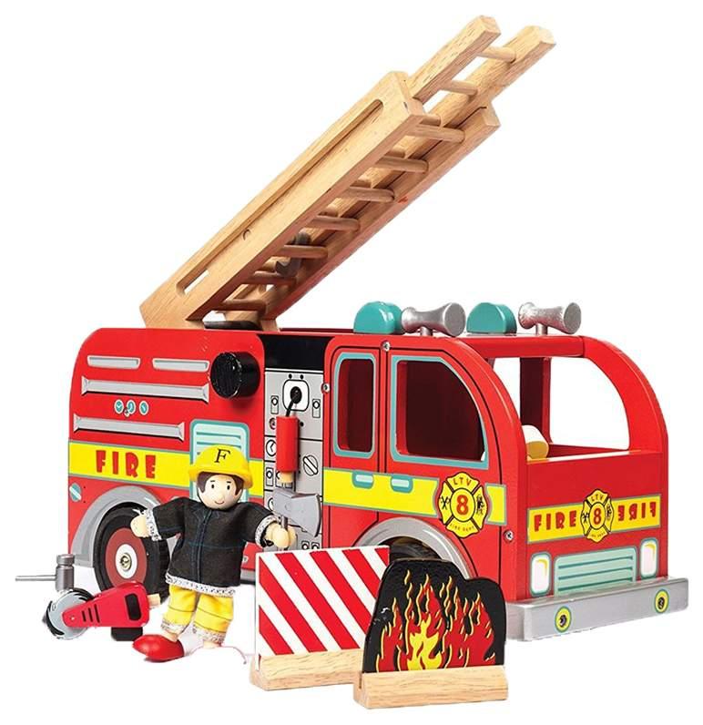 Игровой набор Le Toy Van Пожарная машина с пожарным