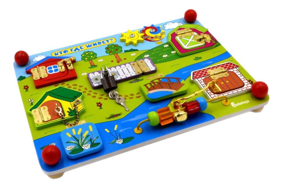 Развивающая игрушка Alatoys Кто где живет?