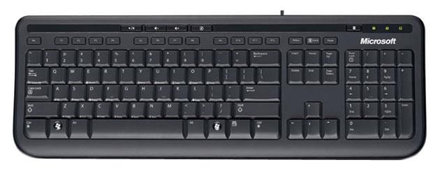 Клавиатура Microsoft Wired 600 Black