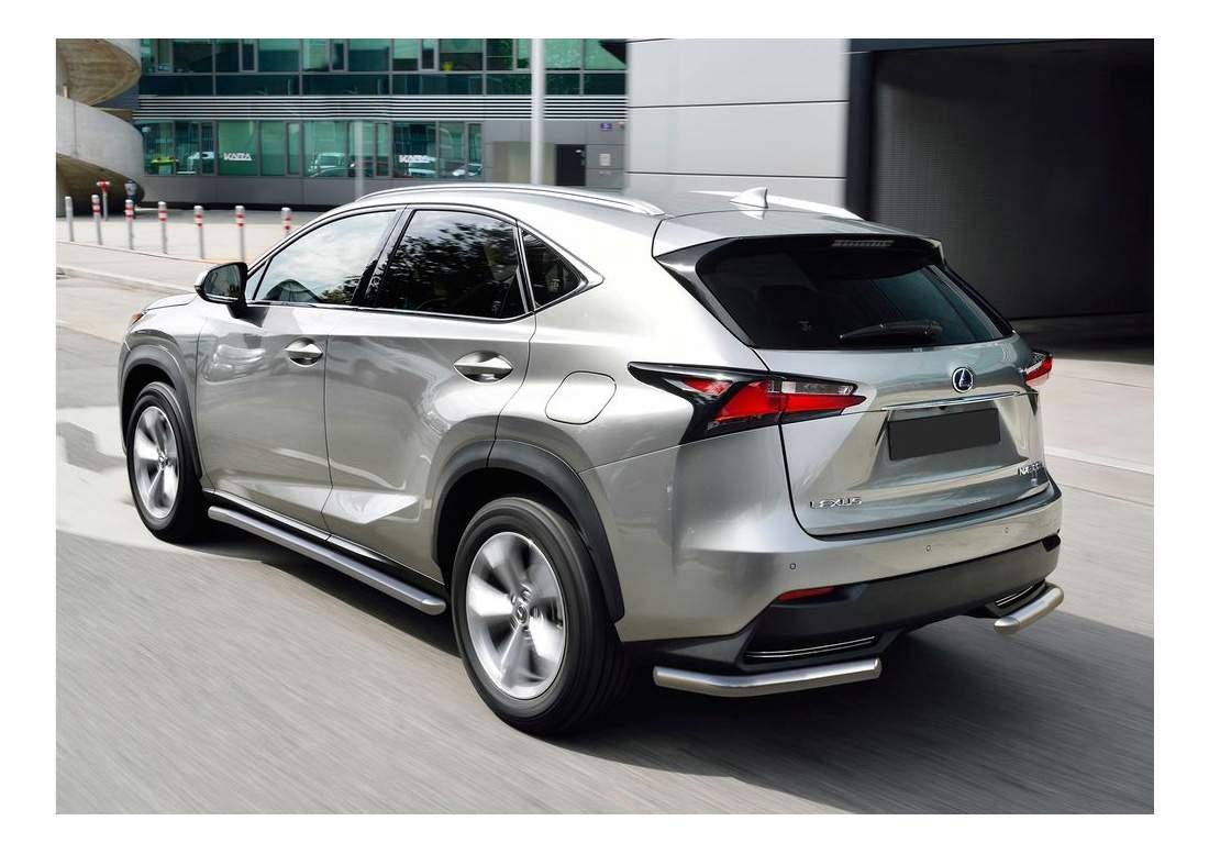 Защита порогов RIVAL для Lexus (R.3208.006)
