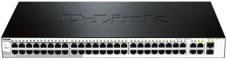 Коммутатор D-Link Web Smart DES-1210-52/C1A Grey/Black
