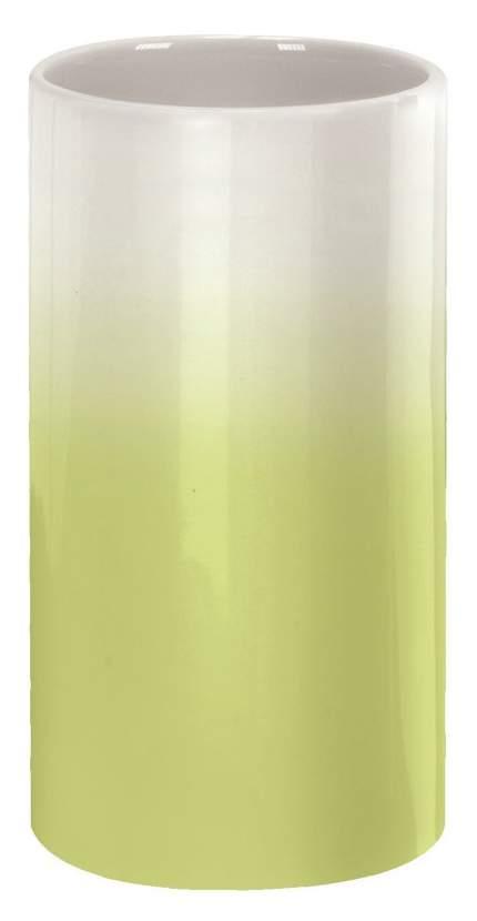 Стакан для зубных щёток Kleine Wolke Phoenix Alga green фарфор Зеленый
