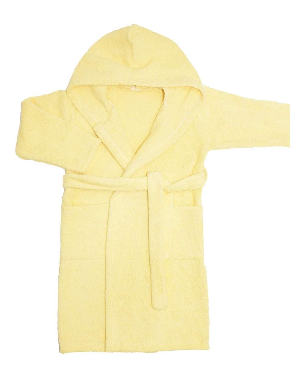 Халат Осьминожка махровый с капюшоном, желтый, 826-04-36/152