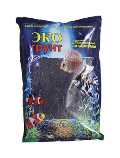 Грунт для аквариума ЭКОгрунт Черный кристалл г-1061 3,5 кг