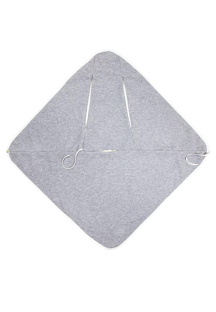 Плед для автокресла Сонный гномик серый