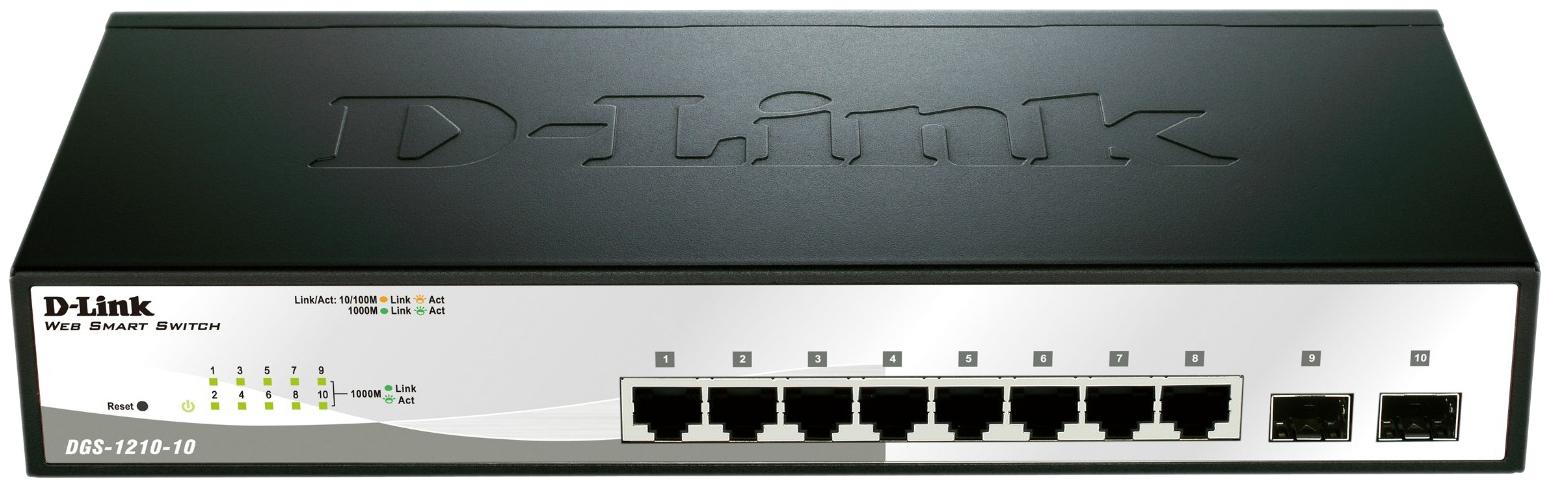 Коммутатор D-Link Web Smart DGS-1210-10/C1A Grey/Black